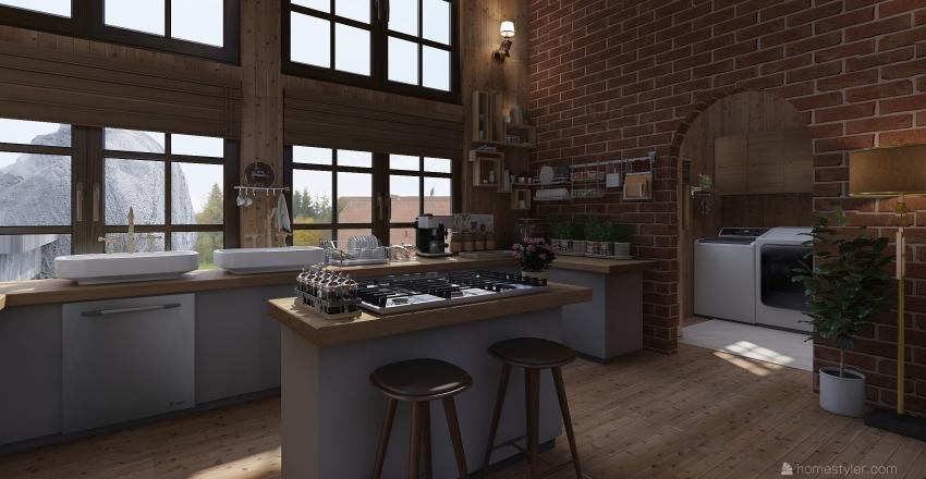 Mountain Rock Estate Interior Design Render