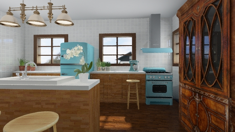 Cozinha Vintage Interior Design Render