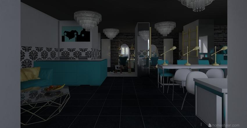 Салон pr nail bar Interior Design Render