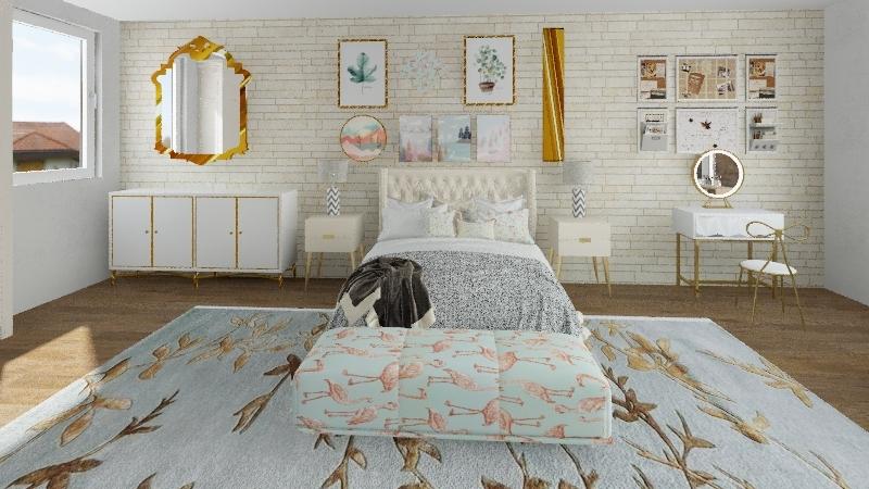 Flamingo Tumblr Interior Design Render