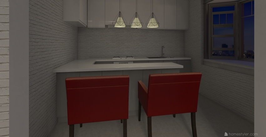 christmas apartment 11 Interior Design Render