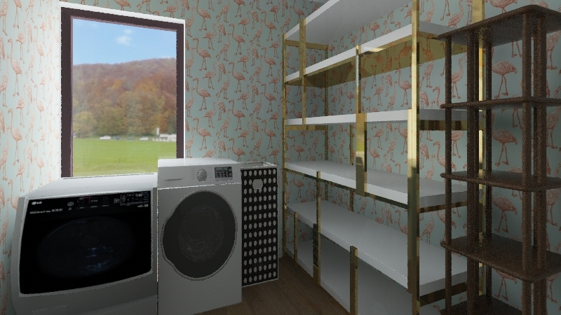 Cozy, Cutting Edge Technology Trend Home. Interior Design Render
