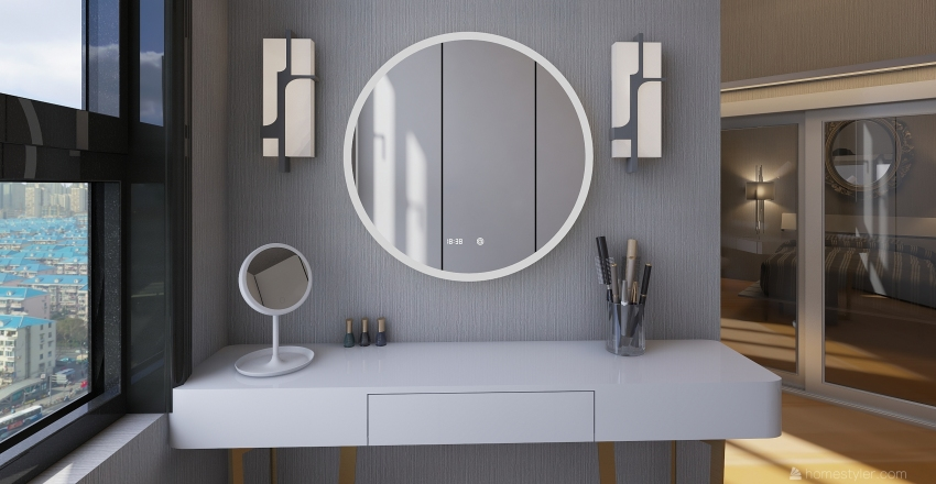 Studio Bedroom Interior Design Render