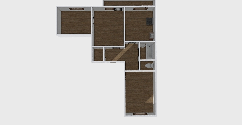 3-комн_229 Interior Design Render