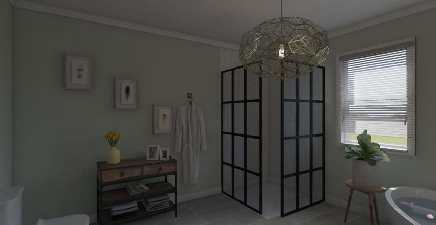 Bohemian Therapy Interior Design Render