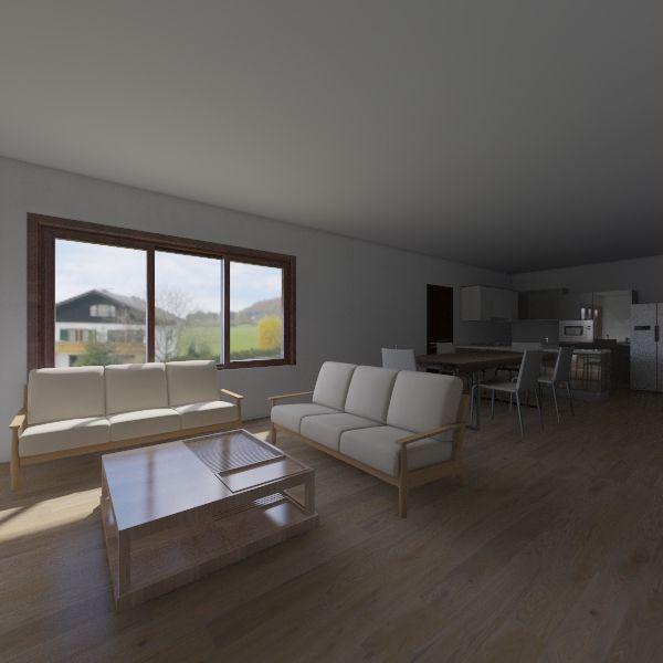 Casa, cocina americana Interior Design Render
