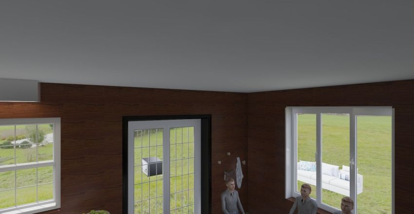 Elizavetiskaya village Interior Design Render