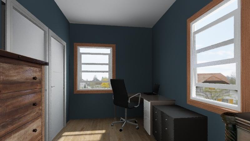 Master Bedroom Drawing Interior Design Render