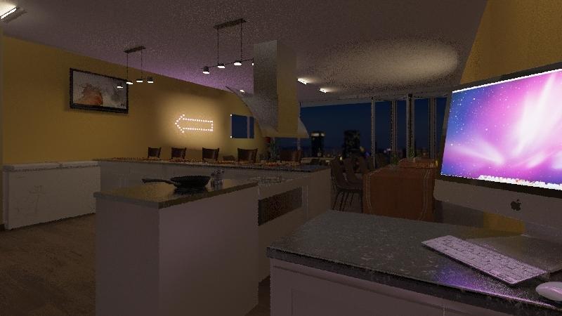 Macarrão ao vivo Interior Design Render