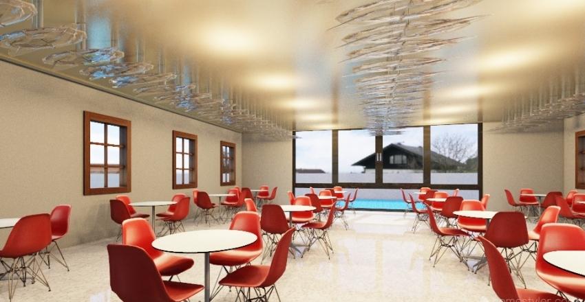 River-view restaurant Interior Design Render