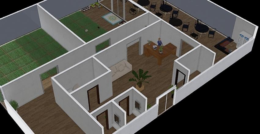 кофейня Interior Design Render