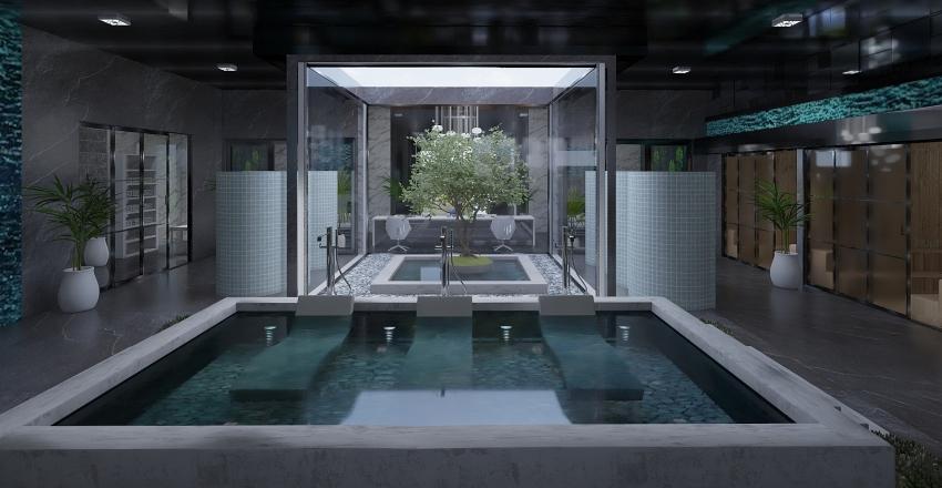 Spa de hotel de lujo Interior Design Render