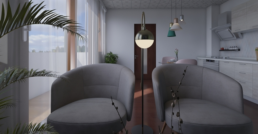 City Apartman Interior Design Render