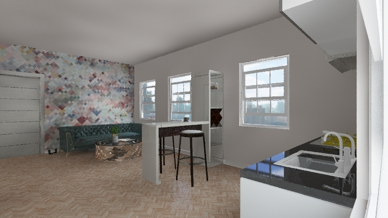 Portia Apartment Interior Design Render