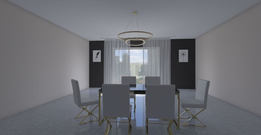 real estate  house upstairs and downstairs Interior Design Render