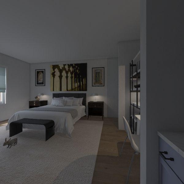 Client's Bedroom Interior Design Render