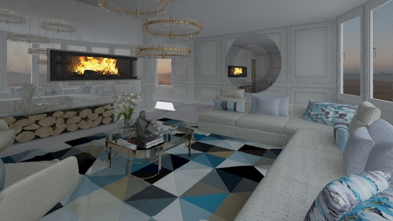 SALA MODERNA Interior Design Render