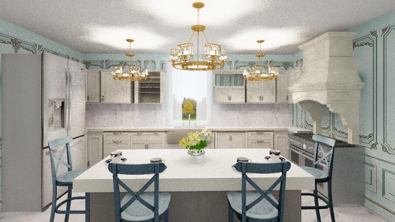 Cozinha Vitoriana Interior Design Render