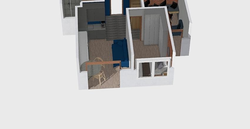 Mieszkanie Piekiełko Interior Design Render