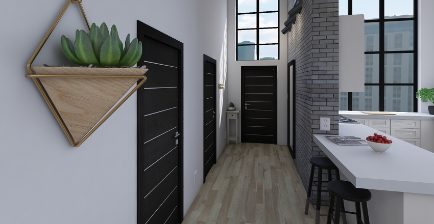 Open Studio Home Interior Design Render