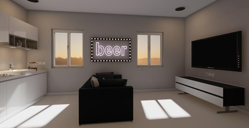 Appartement 001 - T2 Interior Design Render