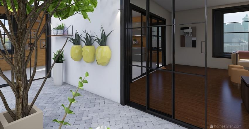 Interior Courtyard Apartment Interior Design Render