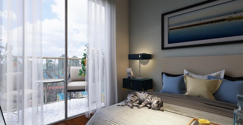 Buddy snores loudly Interior Design Render