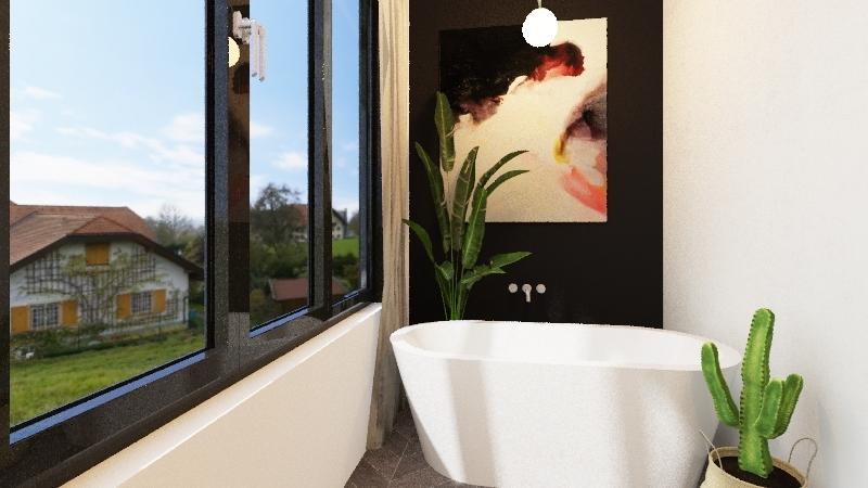 MASTER BEDROOM CLOSET & BATHROOM Interior Design Render