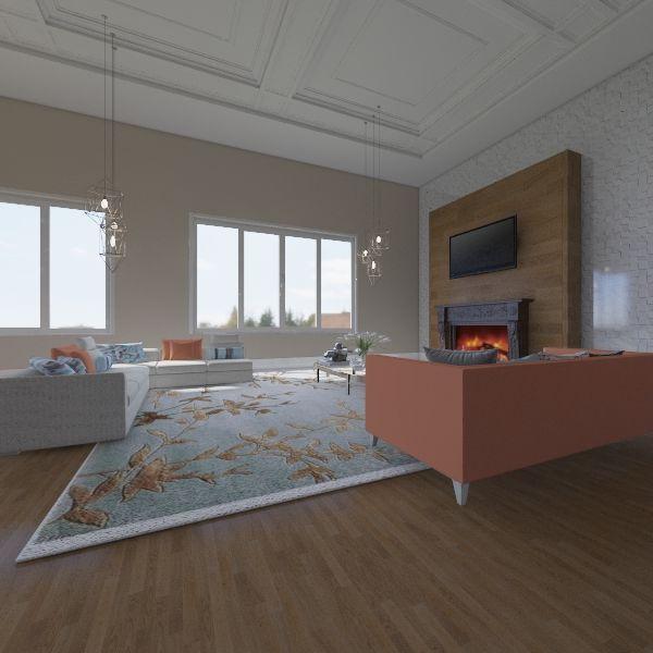 Chalé Françes Interior Design Render