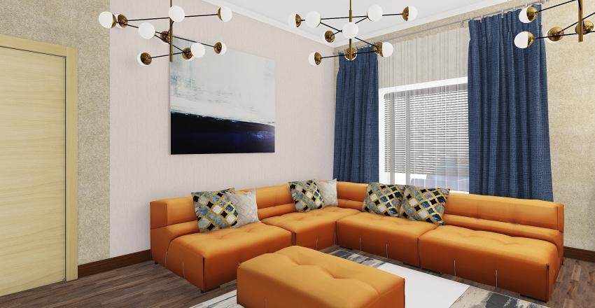 проект 003 гостинная Interior Design Render