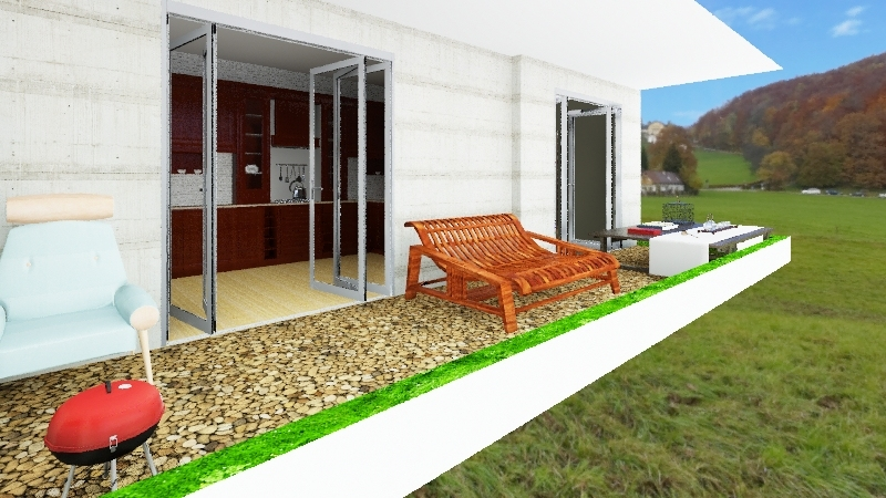 2-Bedroom Apartment Interior Design Render