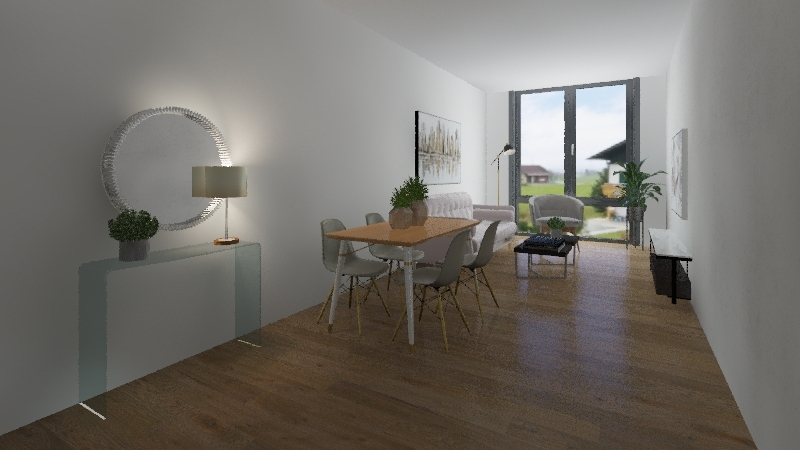 2 bedroom flat for sale Oscar Wilde Road Interior Design Render