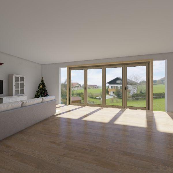 Cute modern cottage Interior Design Render