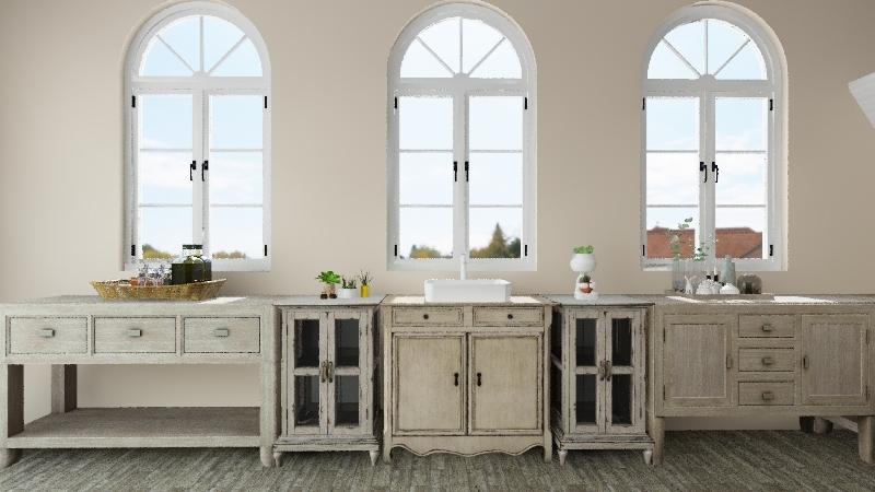 Cozinha Medieval Interior Design Render