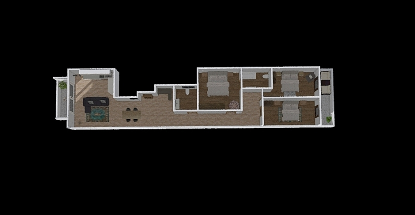Iklin3bed Interior Design Render