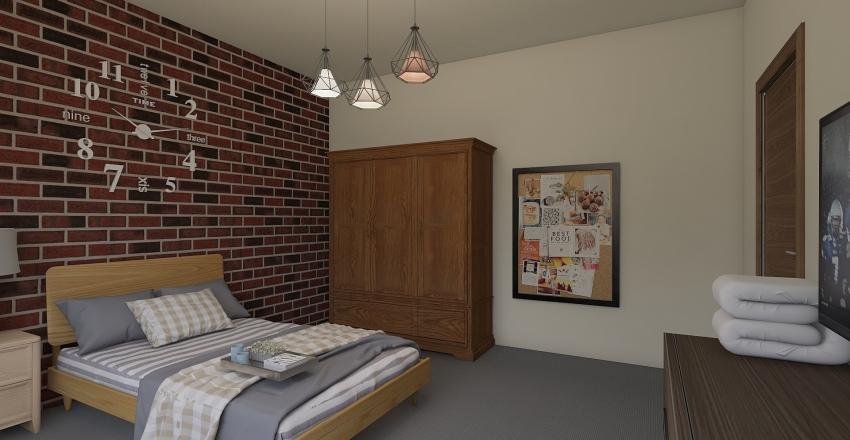 camera singola Nicolò Interior Design Render