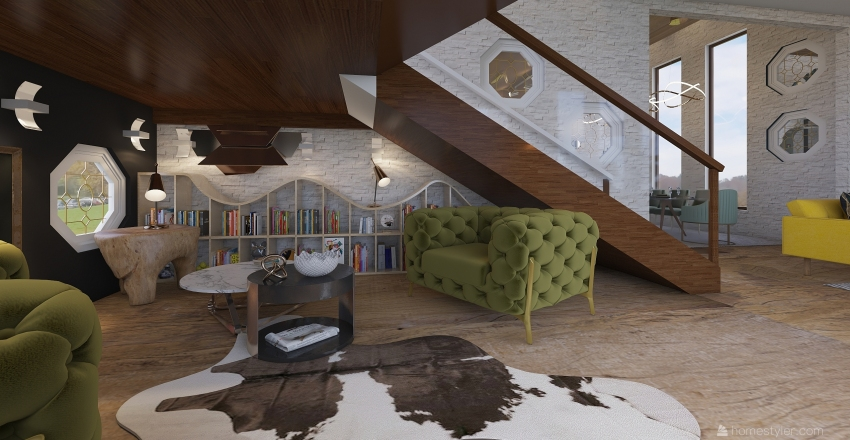 loft Interior Design Render