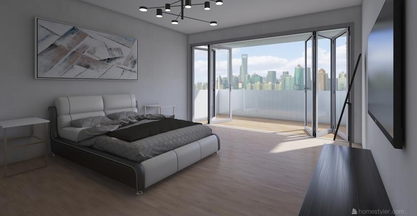 camera doppia vetrata esterna Interior Design Render