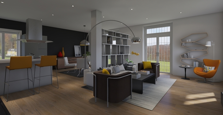 soggiorno pranzo Interior Design Render
