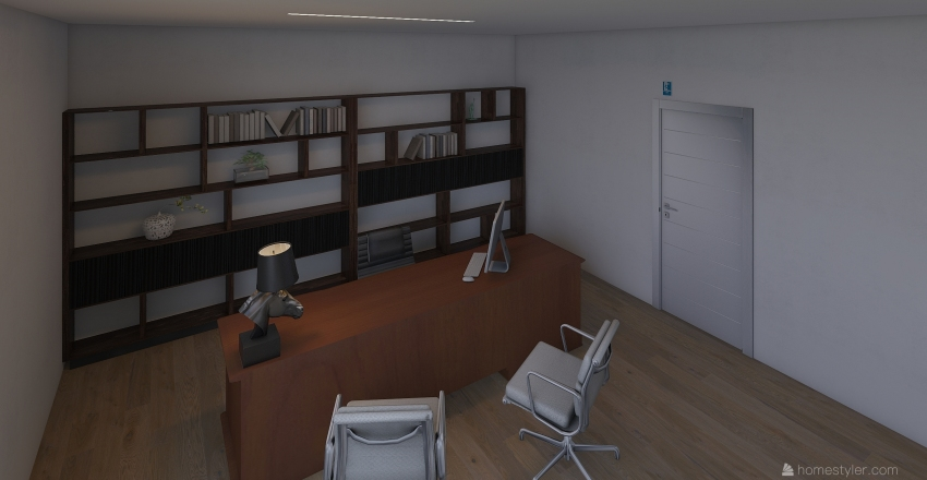 Modern Helpdesk Interior Design Render