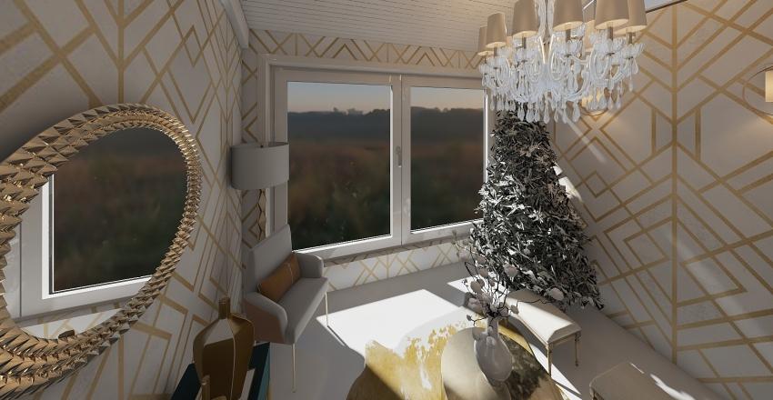 WHITE GOLD SEATING ROOM Interior Design Render