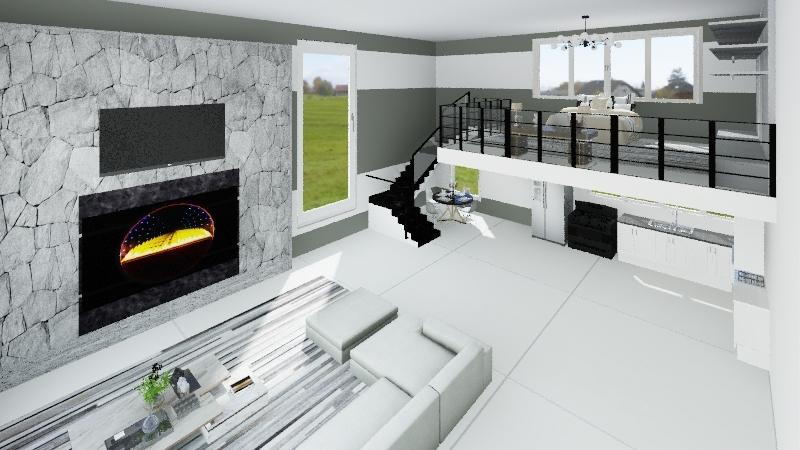BRANCO E PRETO Interior Design Render