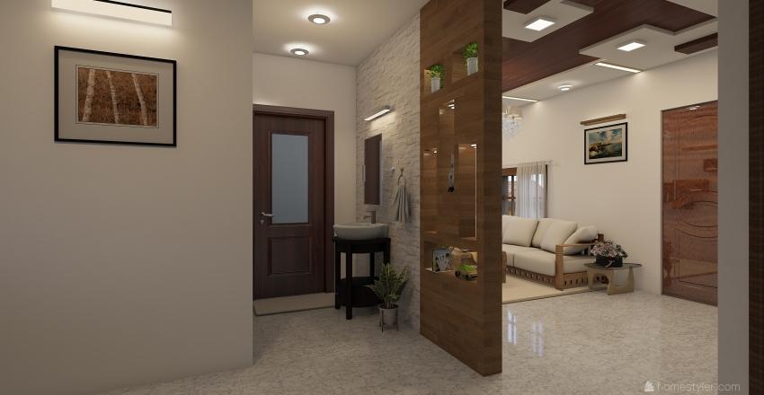 Raji living room modern Interior Design Render