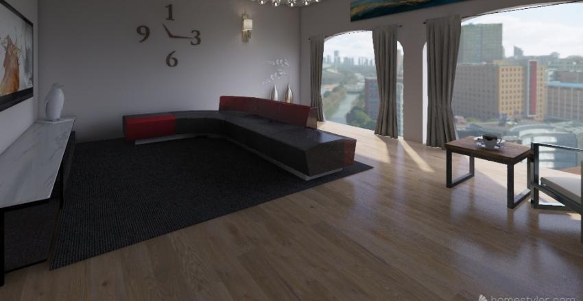 soggiorno moderno Interior Design Render