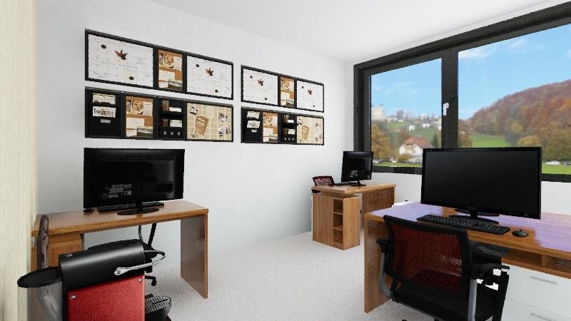 escritório fim  Interior Design Render