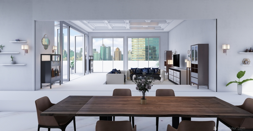 Tokyo's First Floor Interior Design Render