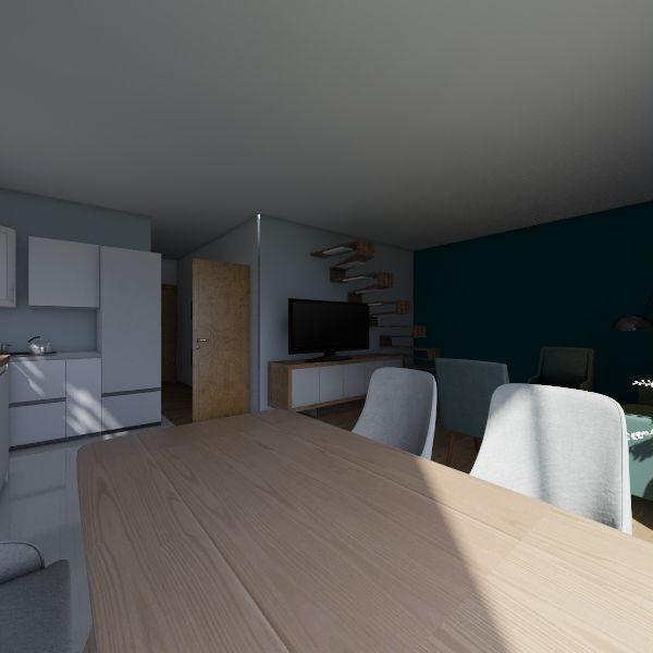Salon pierwsza wizja Interior Design Render
