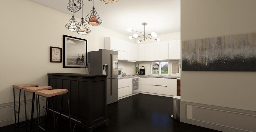 glynk jay 3D VIEW KITCHEN Interior Design Render