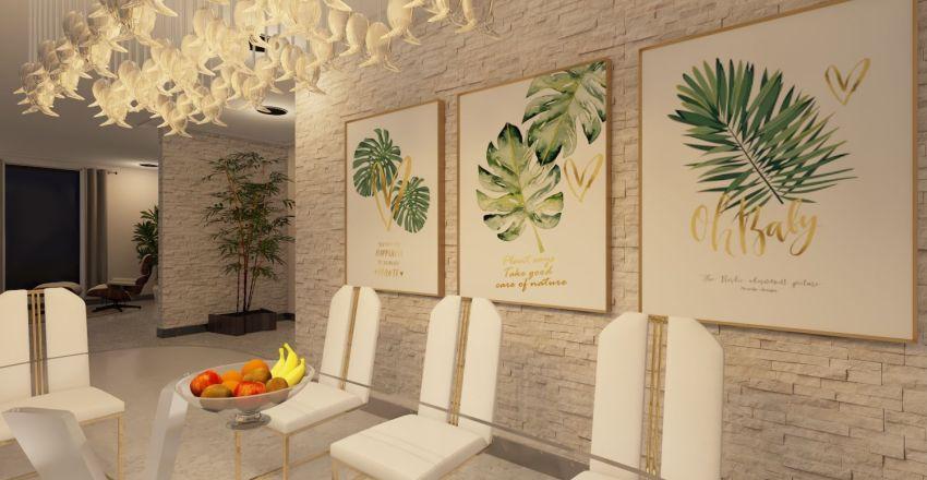 Living & Dining Room Interior Design Render