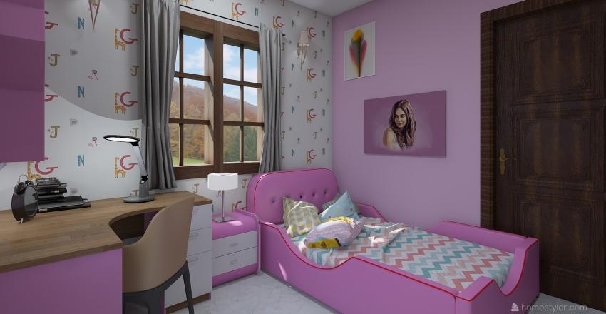 raji child room pink Interior Design Render